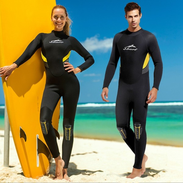 3MM Black Womens Wetsuit Men Full Body Diving Wet Suit