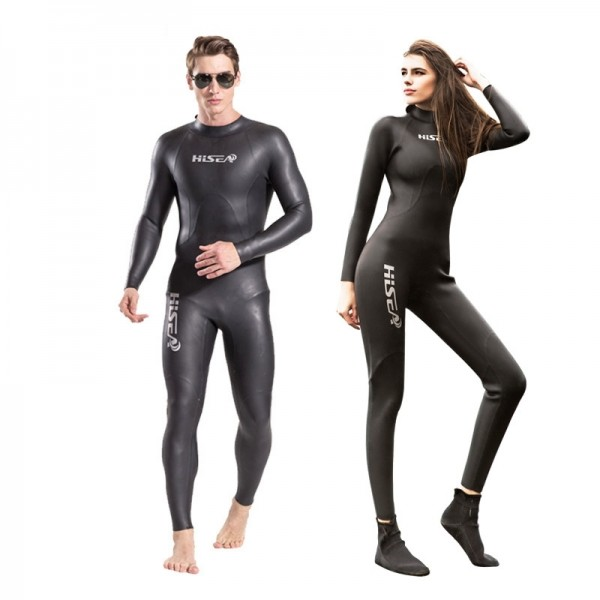 3mm Men & Women Wetsuit Cold Water Fullsuit Black Triathlon Wetsuit