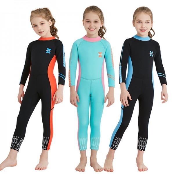 Kid's 2.5MM SCR Neoprene Diving Suit Long Slvee Full Wetsuit