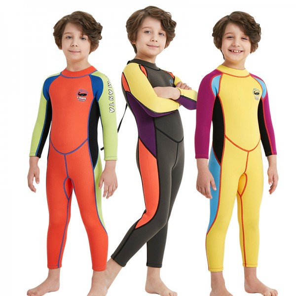 Boys Long Sleeve Warm Full Body Wetsuit 2.5MM SCR Neoprene