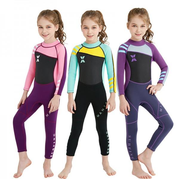 Girls Full Wetsuit 2MM SCR Neoprene Diving Suit UV Resistant