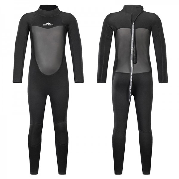 2MM Black Full Diving Suit SCR Neoprene Wetsuits For Teens