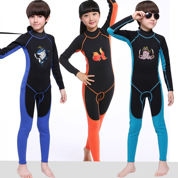 Full Wetsuit 2MM Neoprene Diving Fullsuit Breathable for Boys & Girls