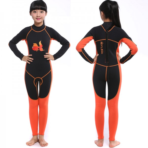Girls Full Wetsuit 2MM Neoprene Diving Fullsuit for Teens