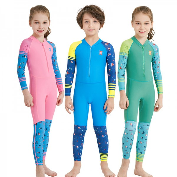 Kids Rash Guard Dive Skin Suit Fast Dry Fullbody Wetsuit Swimwear