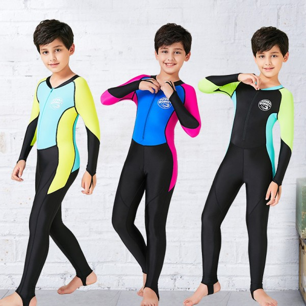 Boys' Rash Guard Dive Skin Suit SPF30 Quick Dry Full Body Swimwear
