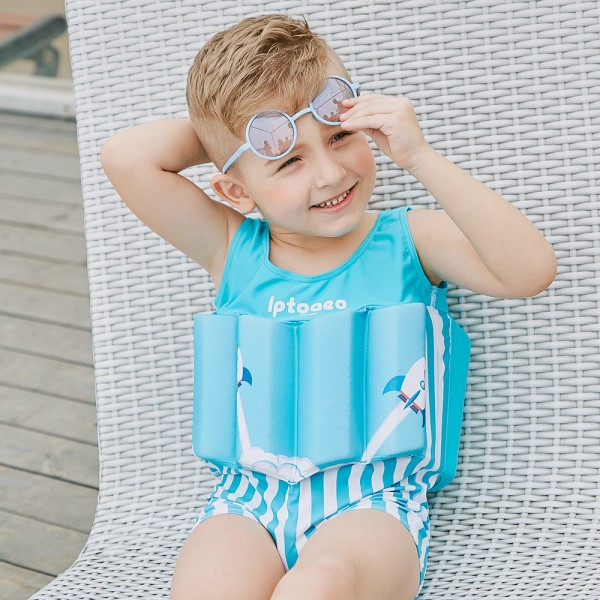 Toddler Swmming Floatsuit Rocket Swimwear with Arm Floaties