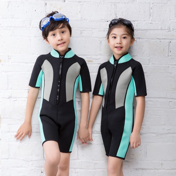 Kids 2.5MM Shorty Wetsuit Diving Springsuit for Boys & Girls