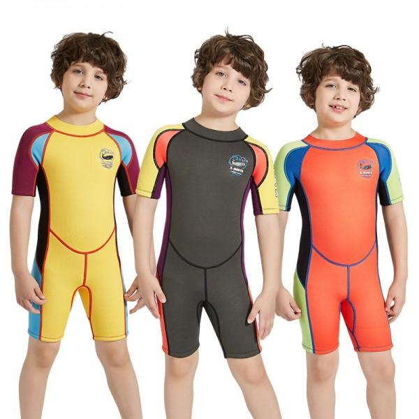 Shorty Wetsuit Diving Springsuit 2.5MM SCR Neoprene Swimwear for Kids
