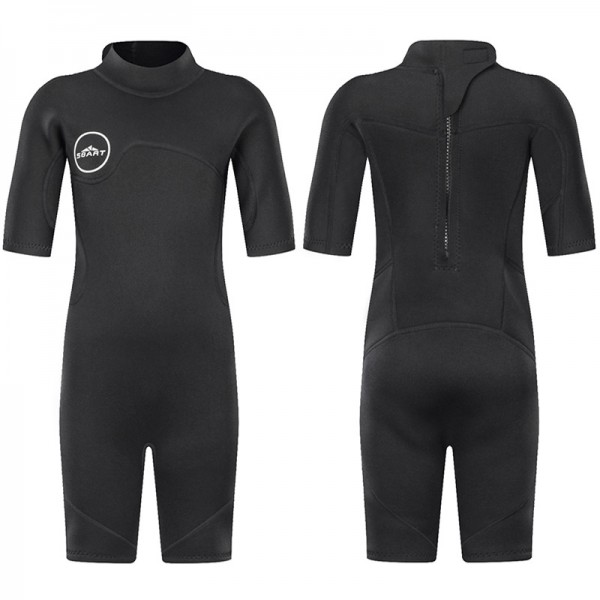 Kids Shorty Wetsuit 2MM Short Springsuit For Diving Swimsuit