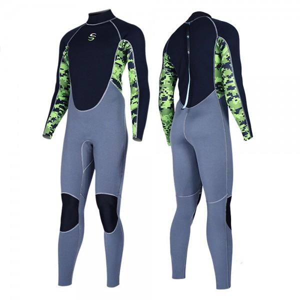 2MM Neoprene Men's Wetsuit Anti-Scratch Fullsuit Keep Warm Diving Surfing Fullsuit
