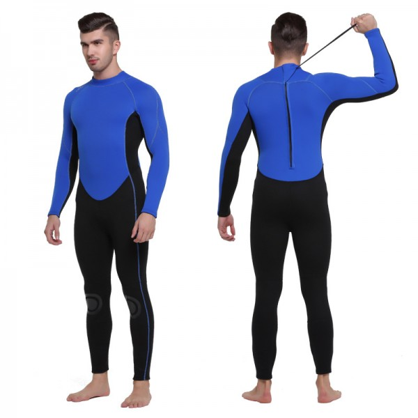 Men's 3MM SCR Neoprene Rash Guard Wetsuit Warm Back Zipper Diving Suit Fullsuit