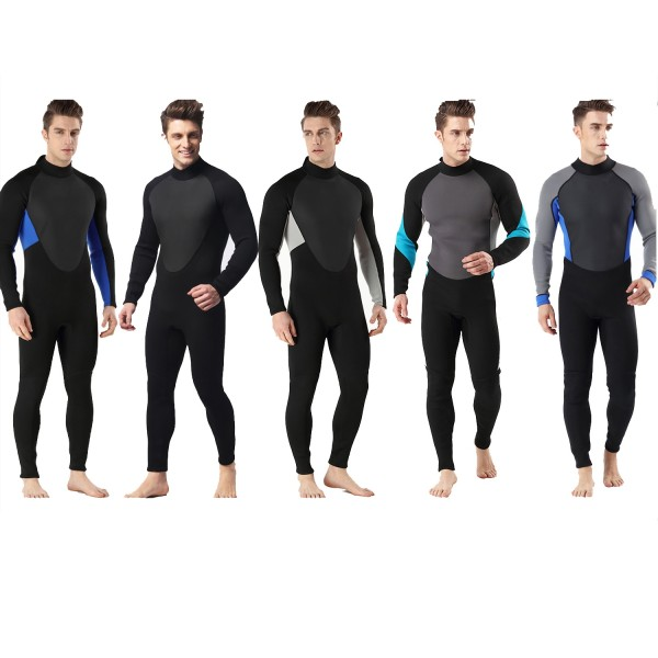3MM SCR Neoprene Men's Wetsuit Diving Suit Warm Rash Guard Jumpsuit Swimwear