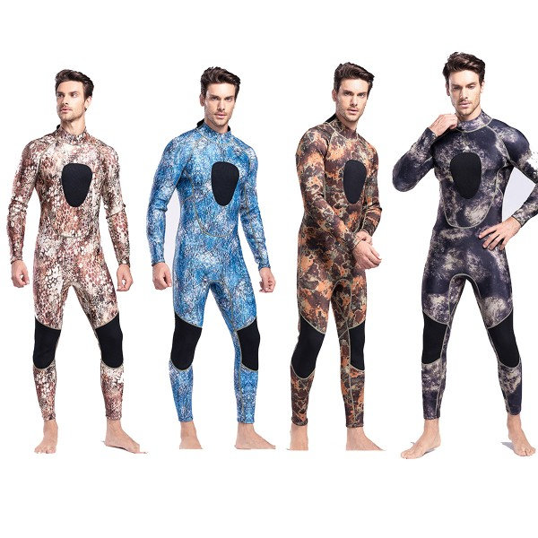 3MM SCR Neoprene Men's Wetsuit Warm Camouflage Diving Suit Fullsuit Jumpsuits