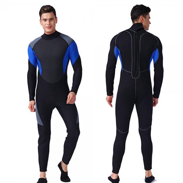 Comfortable Men Wetsuit Colorblock 3MM SCR Neoprene Warm Dive Swim Suit