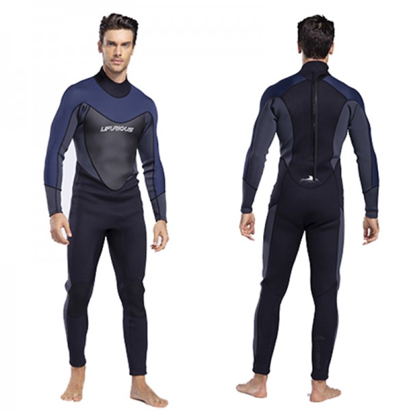 Back Invisible Zip Warm Men Wetsuit 3MM SCR Neoprene Diving Suit Swim Jumpsuit