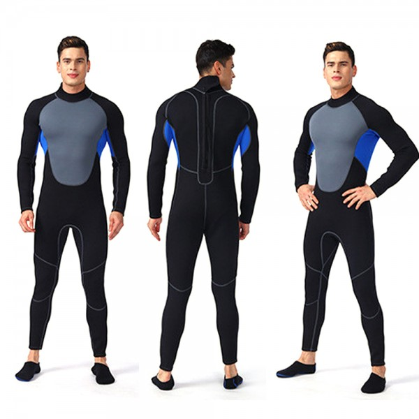 Rash Guard 3MM SCR Neoprene Wetsuit For Men Elastic Swim Diving Suit Jumpsuit