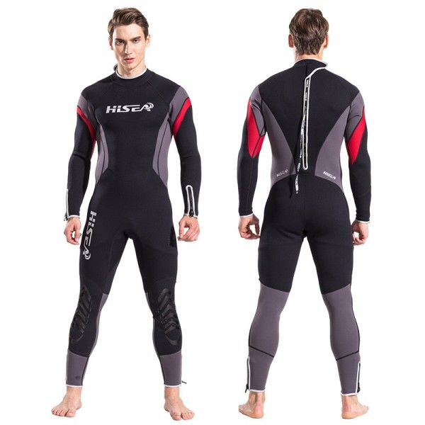 New 2.5mm Men's Neoprene Fullsuit Keep Warm Back Zipper Diving Wetsuit