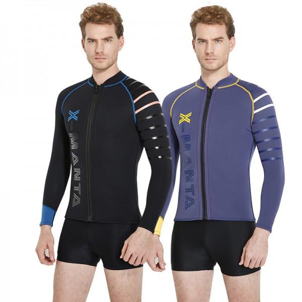 3MM Wetsuits Jacket Long Sleeve Neoprene Wetsuits Top for Men