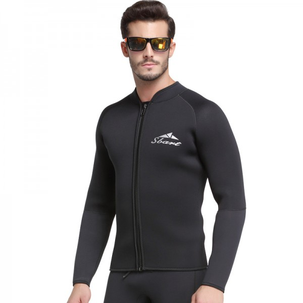 Mens 3MM Wetsuits Jacket Long Sleeve Neoprene Wetsuits Top