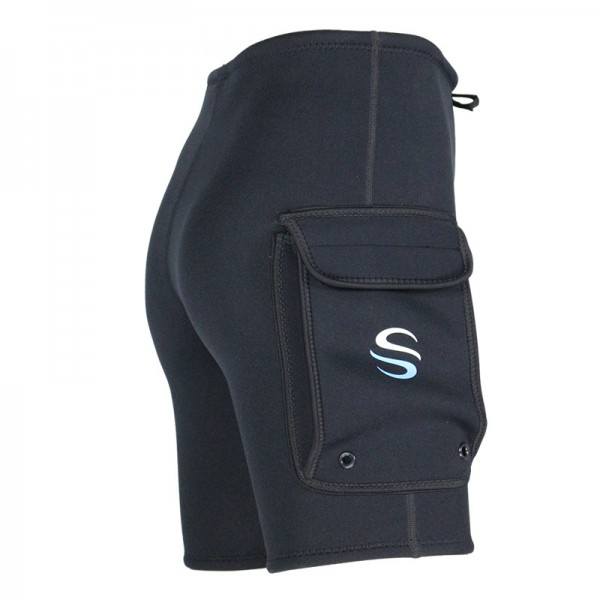 Men's Wetsuit Shorts 3MM Neoprene Bottoms Wtih Pockets
