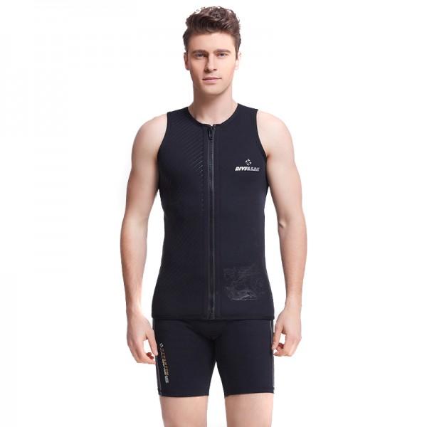 3MM Neoprene Men's Warm Front Zip Wetsuit Top Vests