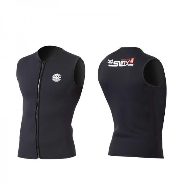 Mens Diving Vest Wetsuit Neoprene 3MM Front Zipper