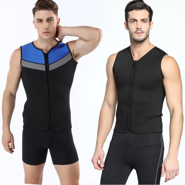 Wetsuits Vest Mens Top Premium Shirt Neoprene 3MM Sleeveless Front Zipper