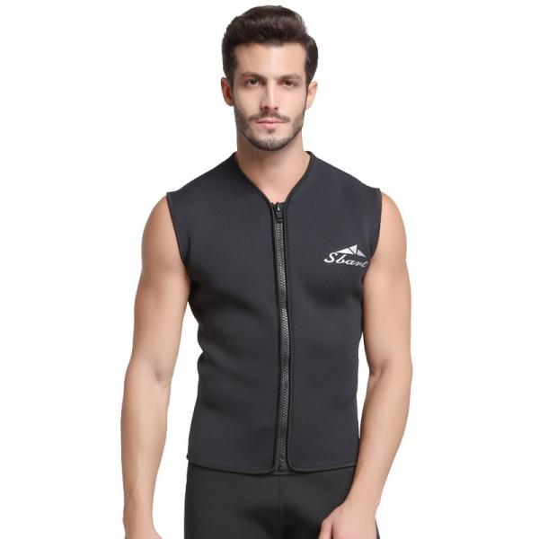 Mens Diving Top Wetsuit Vest 3MM Neoprene