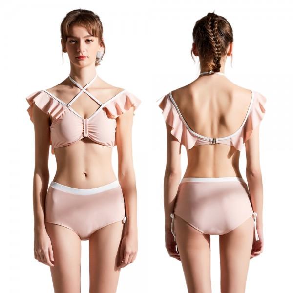 Pink Swimwear For Women Two Piece Swimsuit Bathing Suit