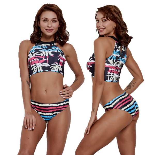 Womens Two Pieces Swimsuit Bikinis Bathing Suit Print