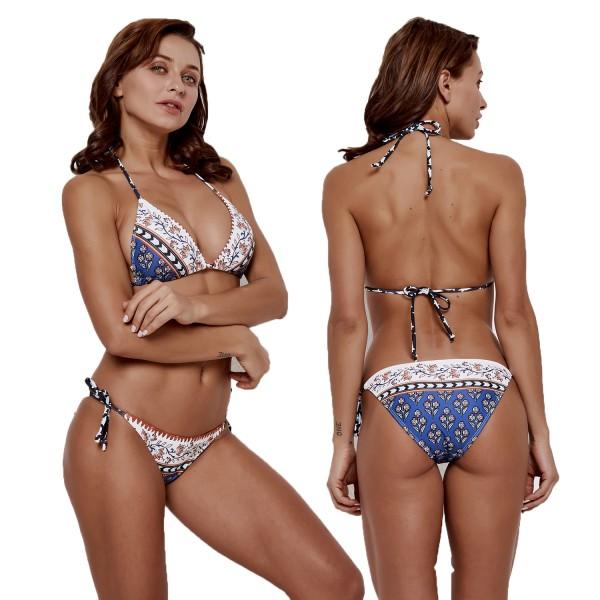 Womens Triangle Bikini Swimsuit Halter Swimwear