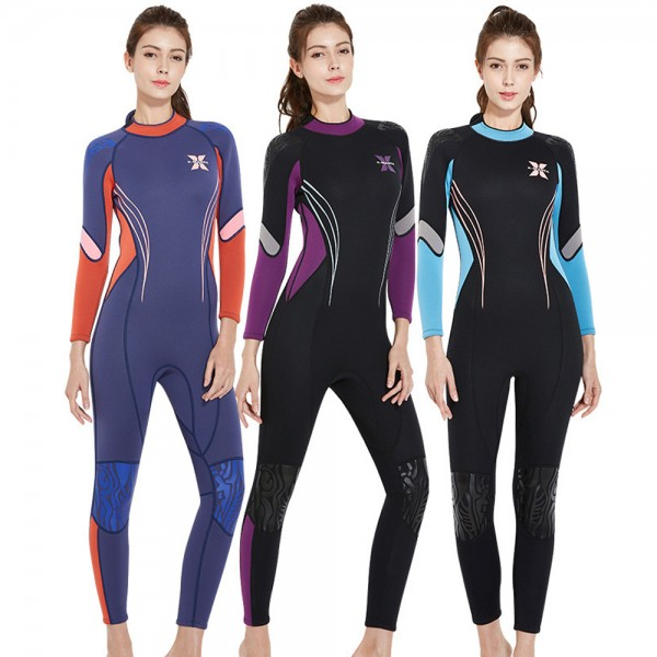 3MM Wetsuit Womens Wetsuits Full Body Wetsuit Diving Suit UPF 50+