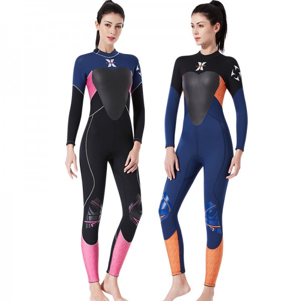 3.5MM Wetsuit Womens Wetsuits SCR Neoprene Diving Suit UPF 50+