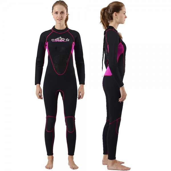 3MM Women Wetsuits SCR Neoprene Full Diving Suit