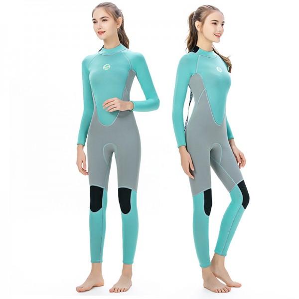 3MM Neoprene Full Diving Suit For Women Wetsuits