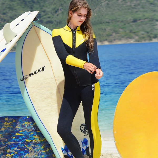2.5MM Two Pieces Wet Suit Womens Wetsuits Full Diving Suit UPF 50+