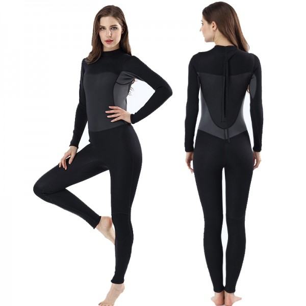 3MM Wetsuit Womens Wetsuits Full Suit SCR Neoprene Diving Suit