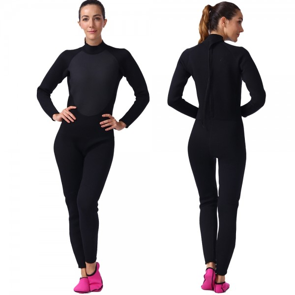 3MM Wet Suit For Women Wetsuits Fullsuit Neoprene Diving Suit
