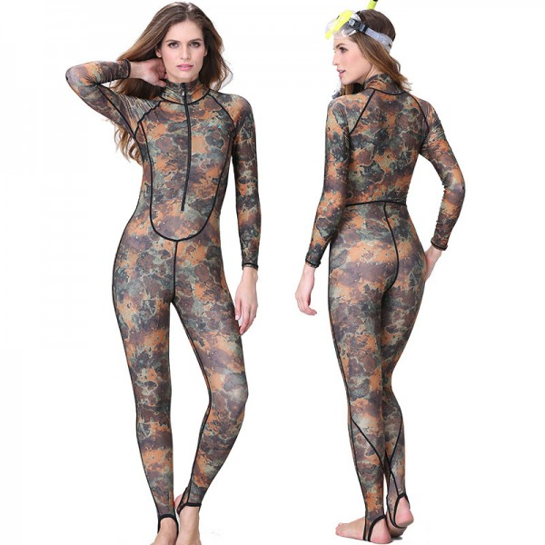 New Camo Women's Surfing Wetsuits Swimming Fullsuit