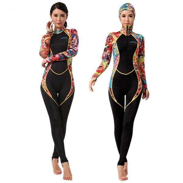 Womens Surf Suit Rash Guard UPF 50+ Swimming Wetsuits