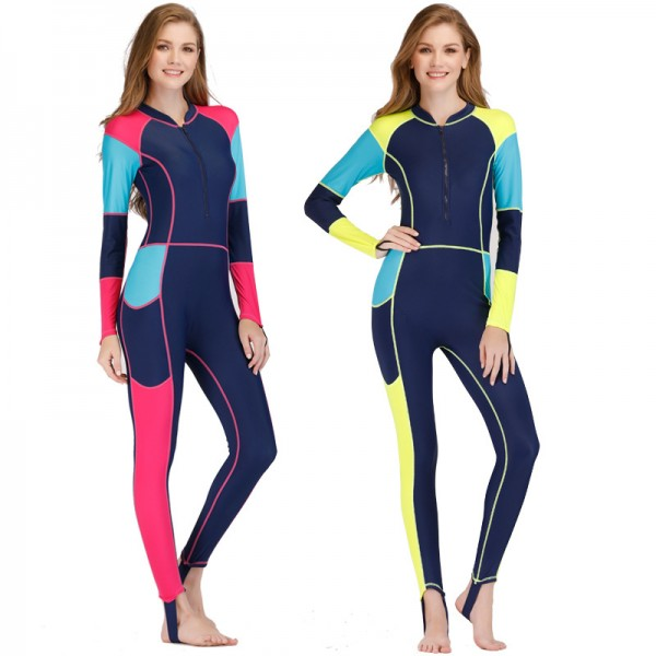 Rash Guard Womens Surf Suit Best Wetsuits For Surfing Front Zip