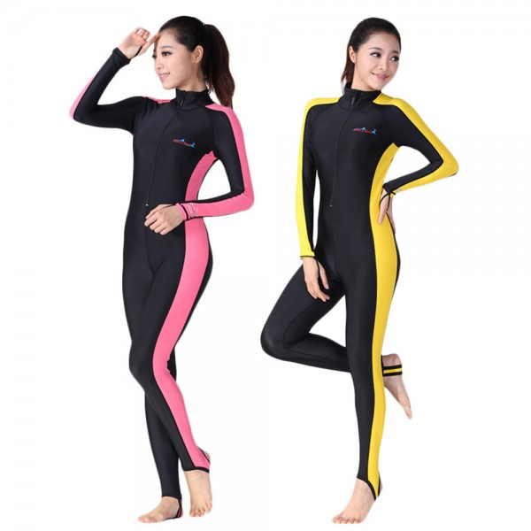 Rash Guard Womens UPF 50+ Front Zip Cool Wetsuit Swimsuit