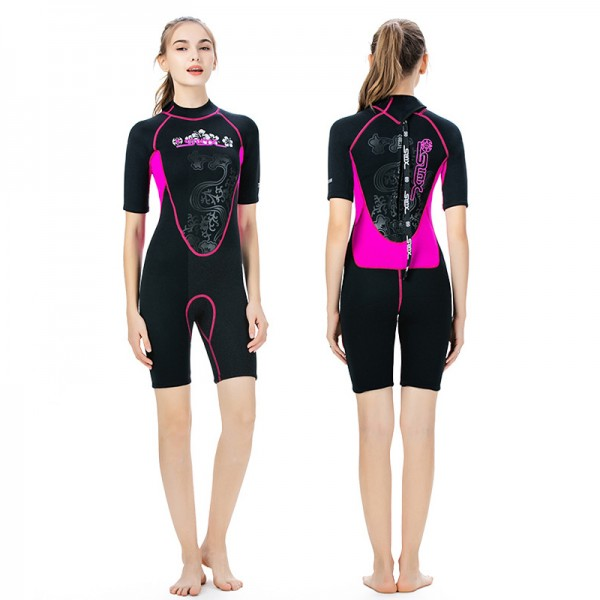 3MM Wetsuit Womens Wetsuit Shorty Wetsuit Spring Wetsuit Womens Anti-UV