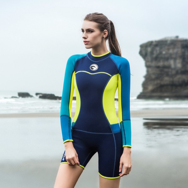 1.5MM Wetsuit Womens Diving Suit Shorty Wetsuit Spring Wetsuit Womens